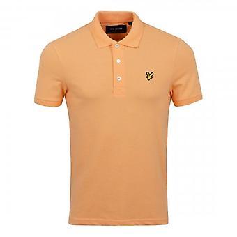 Lyle & Scott Plain Polo Shirt Melon Orange SP400VOG