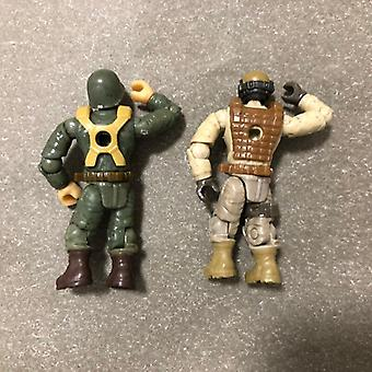 Mega Block Construx Call Of Duty Desert & Ww2 Soldier 6 Action Figure