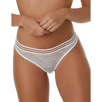 After Eden Feline 10.35.6125-010 Women's White Lace Thong