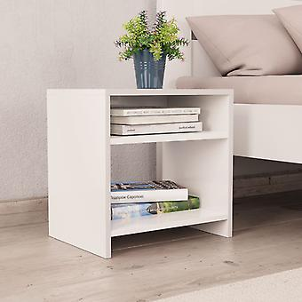 vidaXL ベッドサイドテーブルホワイト 40×30×40 cm のチップボード