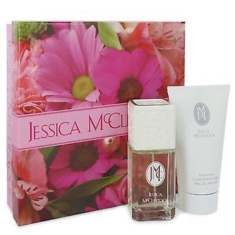 JESSICA Mc CLINTOCK by Jessica McClintock Gift Set -- 3.4 oz Eau De Parfum Spray + 5 oz Body Lotion