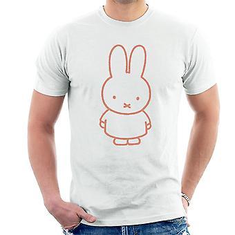 Miffy Rød Kontur Mænd 's T-shirt