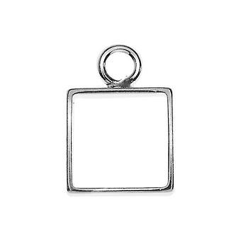 Open Back Bezel Pendant, Square 12.5x18mm, 1 Piece, Silver, by Nunn Design