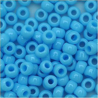 Toho Pyöreä Siemenet 6/0 43 Läpinäkymätön sininen turkoosi 8 gramman putki