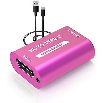 FengChun Videoaufnahmekarte mit USB 2.0 1080P 30FPS, Capture-Karte für das Streaming, Videoaufnahme