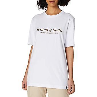 Scotch & Soda Cotton-Jersey Logo Konstverk t-Shirt, 0006 Vit, XL Herr