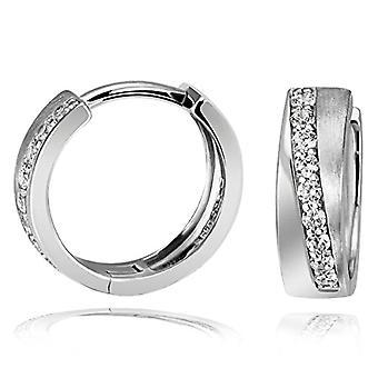 Goldmaid - Sterling 925 silver damringörhängen med 18 vita stenar
