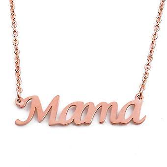 KL Kigu Mama - Naisten kaulakoru nimellä, ruusukulta, nimi, muodikas, lahja tyttöystävälle, äidille, siskolle