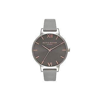 Olivia Burton analoge quartz horloge vrouw met lederen riem OB16BD90