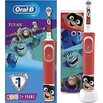 FengChun Kinder elektrische Zahnbürste wiederaufladbar powered by Braun, 1 Griff 1 Reisetasche mit