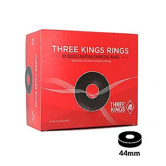 Carbones Tres Reyes Anillos 44mm Caja De 80