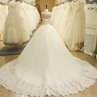sjarmerende kjæreste applique blonder vintage brude brude brudekjole