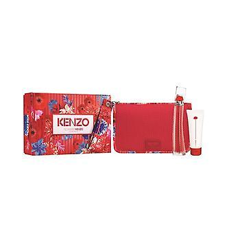 Giftset Kenzo Flower Van Kenzo Edp 50ml + Body Milk 75ml + Pouch