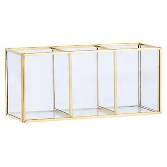 Nordic Gold Grid lasi flip varastosäiliö laatikko