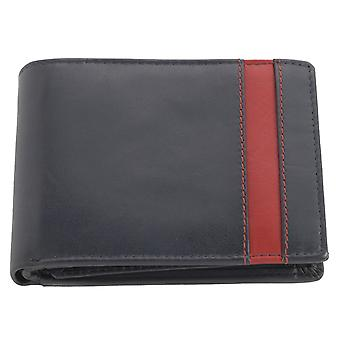 Men's Super Soft Leather Two Tone Organiser Wallet