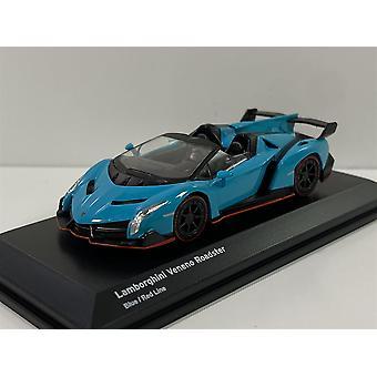 Lamborghini Veneno Roadster Blue Red Line 1:64 Scale Kyosho 7040A4
