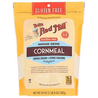 Bobs Red Mill Cornmeal Grnd Medium, Fodral på 4 X 24 Oz