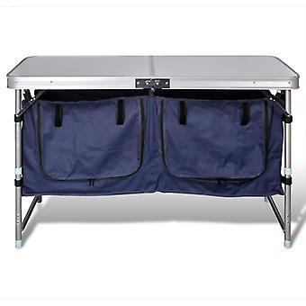 Campingmöbel Stauraum aus Aluminium zusammenklappbar