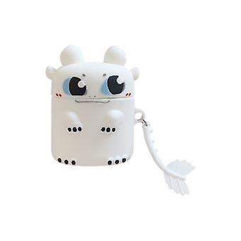 Shockproof Protective Silicone Case For Your Apple Airpods - White Dragon