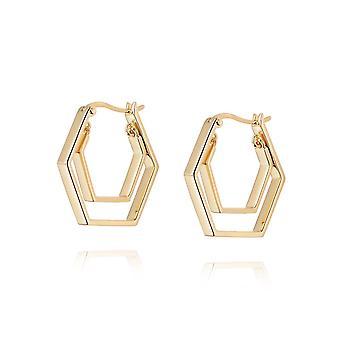 Daisy Kamala Huggie Hoop 18ct Gold Plate Earrings HUG14_GP