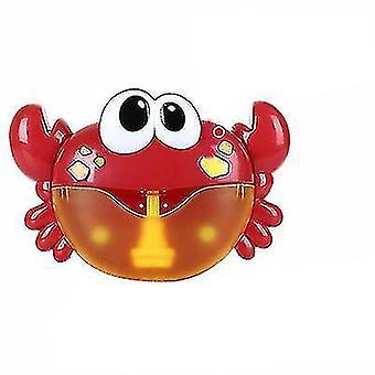 12 Song Musical Krabbe Bubble Maker Baby Børn Bad Shower Legetøj (Rød)
