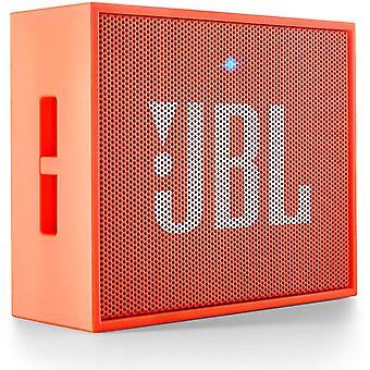 JBL Go kabelloser Bluetooth-Lautsprecher (3,5 mm-AUX-Eingang, geeignet für Apple iOS- und Android-Älypuhelimet, Tabletit und MP6-Geräte)(Oranssi)