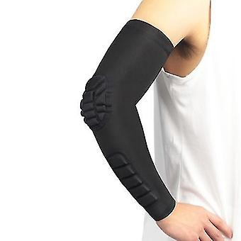 كرة السلة التدريب الإيدز 2pcs الرجال النساء ضغط الذراع الأكمام الكوع دعامة وسادة تنفس الرطوبة فتل كرة السلة في الهواء الطلق دعم الذراع واقية