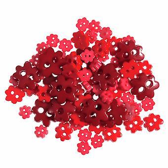 LAST FEW - 2.5g Rode Mini Bloemknoppen voor naaien en fournituren