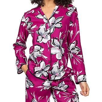 Cyberjammies Natasha 4940 Dámské růžové květinové bavlněné pyžamo Top