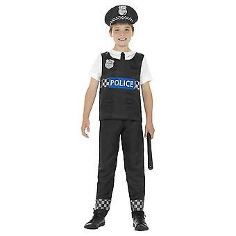 Costume poliziotto, nero e bianco (medio)