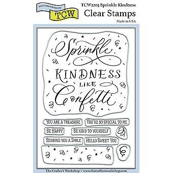"Crafter's Workshop Clear Stamps 4""X6"" - Sprinkle Kindness"