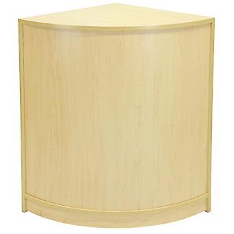 Gebogen hoek winkel retail teller kabinet tot kassa retail wit CM60