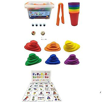 Set Of Colorful Bear And Cups-montessori Educational Cognition