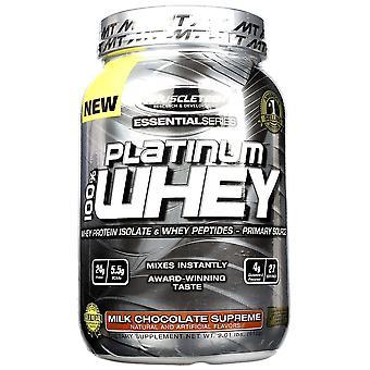 Platinum 100% Whey, Milk Chocolate Supreme - 910 grams