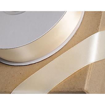25m krem 3mm bred sateng bånd for håndverk