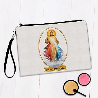 Gift Makeup Bag: Jesus Divine Mercy Catholic