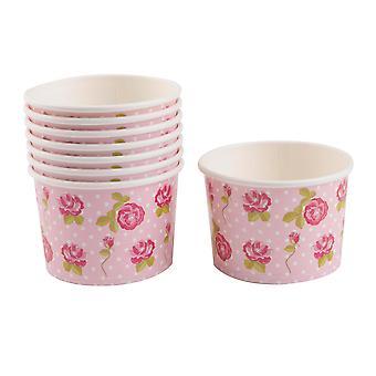 Vintage Rose - Ice Cream Tubs