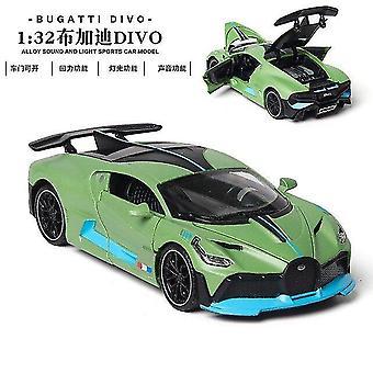 Toy cars 1:32 bugatti veyron alloy car model toy green