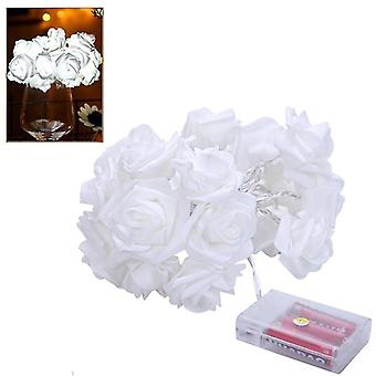 1.5M rose bloem string lichten Valentijnsdag bruiloft kerst decor (wit)