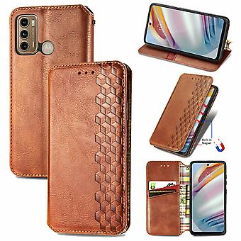 Etui do Motorola Moto G60 Flip Cover Wallet Flip Cover Wallet Magnetyczna ochrona Handytasche Case Etui - Marron