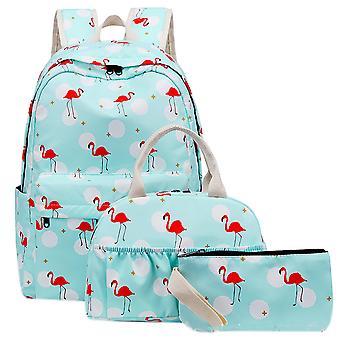 3 Pcs Floral School Backpack Set For Girls