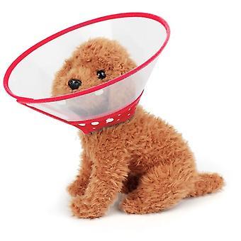 Rode halsband voor honden. Trechter Maat: Xl 30-39 Cm Anti-bite Plastic Kraag
