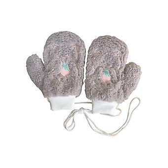 כפפות חורף מצוירות למתוח כפפות סרוגות בנות קטיפה כפפות חמות
