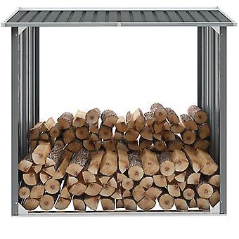 Chunhelife Garden Log Storage Shed Acier galvanisé 172x91x154 Cm Gris
