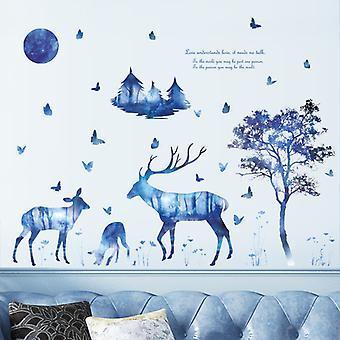 Starry Deer Tree Wall Stickers Bedroom Mural (dimensioni: 115cm X 60cm)