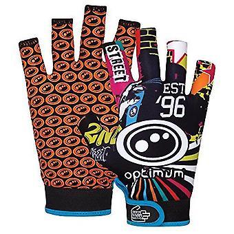 Optimum Junior Sports Rugby Gloves with Elasticated Wrist & Adjustment