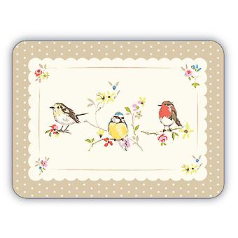 Cooksmart Dawn Chorus păsări placemats, set de 4