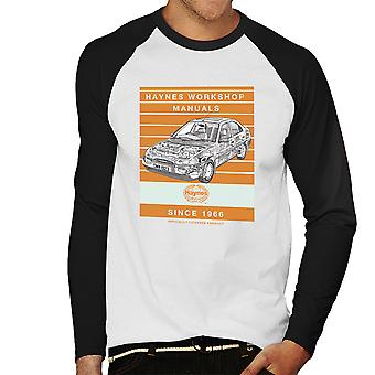Haynes Workshop Manual 1923 Ford Mondeo Stripe Men's Baseball Long Sleeved T-Shirt