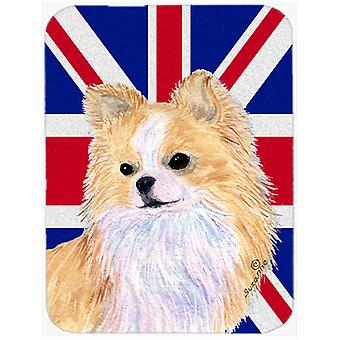 Chihuahua avec anglais Union Jack drapeau britannique verre coupe Conseil grande taille