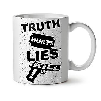 Truth Hurts Kill Slogan NEW White Tea Coffee Ceramic Mug 11 oz | Wellcoda